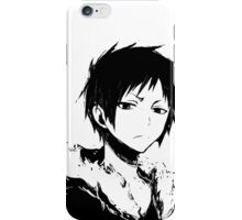 Izaya black and white iPhone Case/Skin