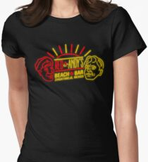 Red and Andy's Beach Bar, Zihuatanejo Womens Fitted T-Shirt