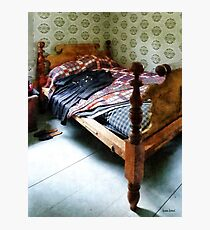 Long Sleeved Dress on Bed Photographic Print