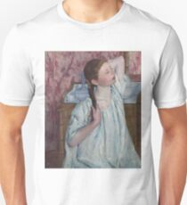 Mary Cassatt - Girl Arranging Her Hair 1886 American Impressionism  Unisex T-Shirt