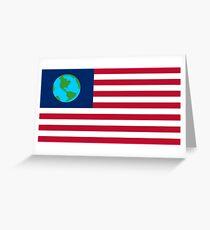 Futurama Earthican Flag Greeting Card