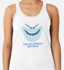 Los peces son amigos, no comida Camiseta con espalda nadadora