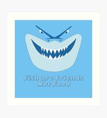 Los peces son amigos, no comida Lámina artística