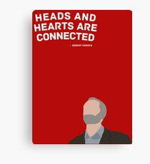 Heads and Hearts - Jeremy Corbyn Canvas Print
