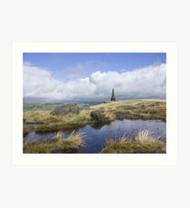Stoodley Pike From The Pennine Way Art Print