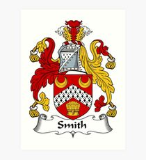 Smith Coat of Arms / Smith Family Crest Art Print