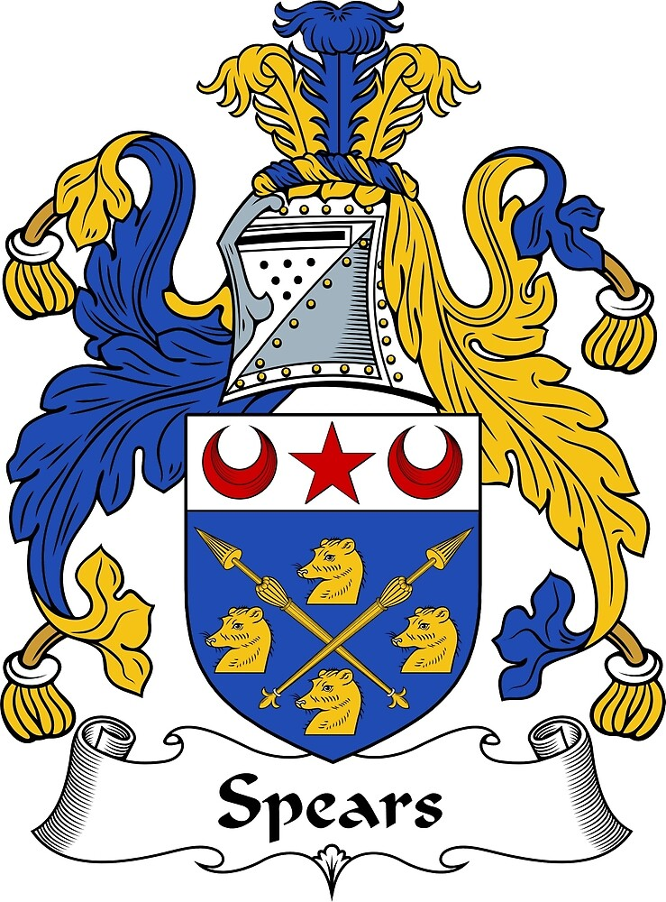 Quot Spears Coat Of Arms Spears Family Crest Quot By