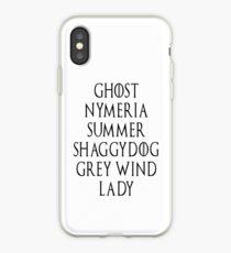 Dire Wolf list iPhone Case