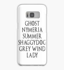 Dire Wolf list Samsung Galaxy Case/Skin