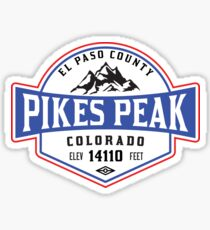 PIKES PEAK COLORADO Skiing Ski Mountain Mountains Snowboard National Forest Sticker
