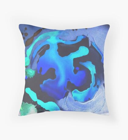 Swim with the Mermaids in the Great Natural Deep Blue Sea Throw Pillow