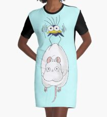 Spirited Away Mouse and Fly Graphic T-Shirt Dress