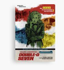 Gillian Anderson is Double-O Seven Canvas Print