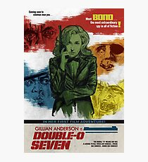 Gillian Anderson is Double-O Seven Photographic Print
