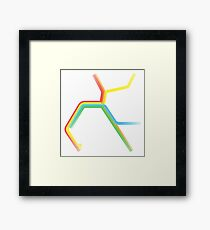 Rainbow BART Map Framed Print