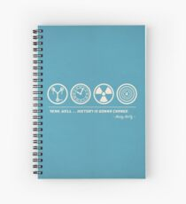 Back to the Future Symbolism Spiral Notebook