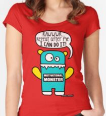 Motivational Monster I can do it! by Wishllywood ™ Women's Fitted Scoop T-Shirt
