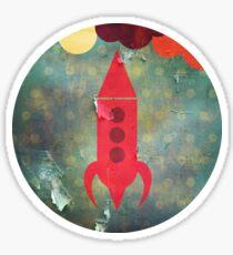 The Rocketship Sticker