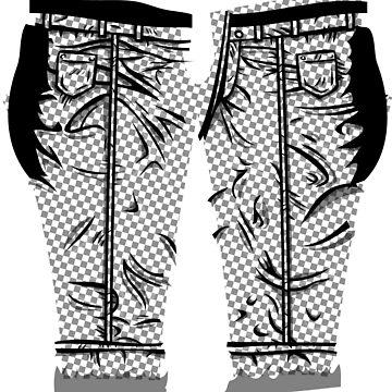 Comic Checker Leggings by GrimDork