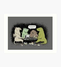 Monsters love RPGs Art Print
