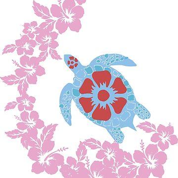 Hawaiian Turtle Design by chalk13