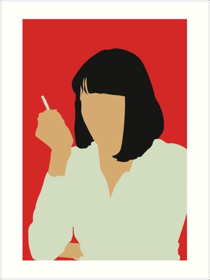 Uma Thurman Pulp Fiction By Kailey Slemp