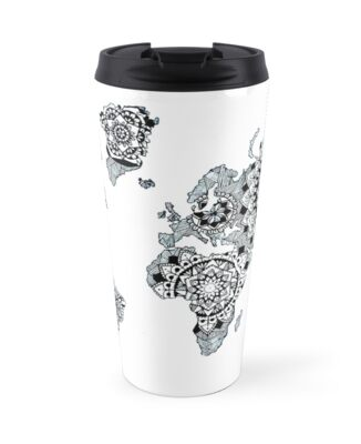 World map travel mugs by ren23 redbubble world map by ren23 gumiabroncs