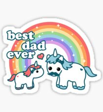 Best Unicorn Dad Sticker