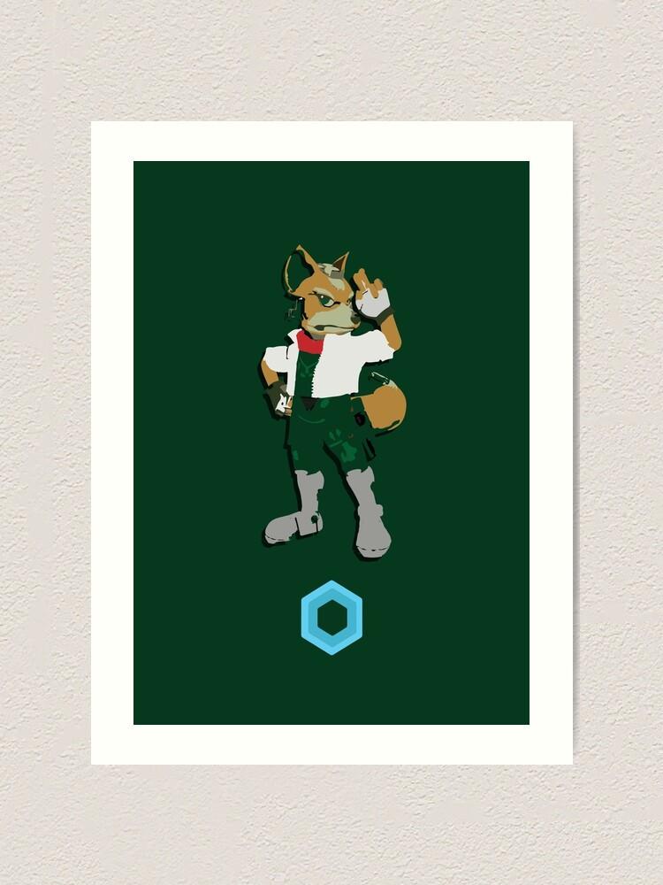 Fox Mccloud Super Smash Brothers Art Print
