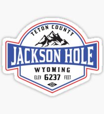 JACKSON HOLE WYOMING Mountain Skiing Ski Snowboard Snowboarding Sticker