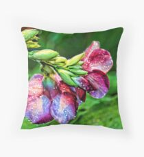 The Purple Allamanda Too  Throw Pillow