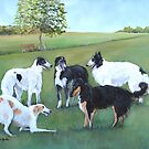 Borzoi Play Time by Charlotte Yealey