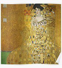 Gustav Klimt - Adele .  Golden Gustav Klimt  Poster