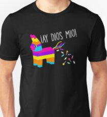 ¡Ay Dios Mio! Piñata Problems - Worried Burro Pinata has Candy Accident Unisex T-Shirt