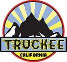 TRUCKEE CALIFORNIA Ski Skiing Snowboarding Snowboard Hiking Hike Mountain Camping Art  by MyHandmadeSigns