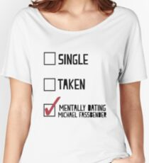 Dating Michael Fassbender Women's Relaxed Fit T-Shirt