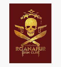 Black Lagoon ROANAPUR GUN CLUB red Photographic Print