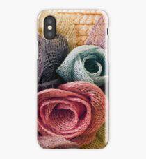 Raffia Roses on Hat  iPhone Case/Skin