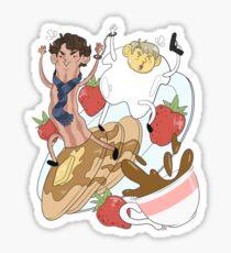 221B Breakfast Street Sticker