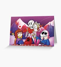 Undertale picknick Greeting Card