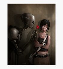 Robot In Love Photographic Print