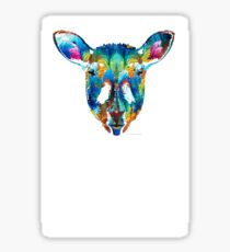 Colorful Sheep Art - Shear Color - By Sharon Cummings Sticker