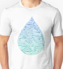 Water Drop – Blue Ombré Unisex T-Shirt