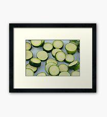 Sliced zucchini Framed Print