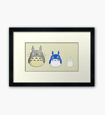 chibi totoros Framed Print