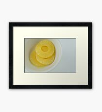 Pineapple slices Framed Print