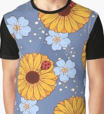 Ladybugs Blue Graphic T-Shirt