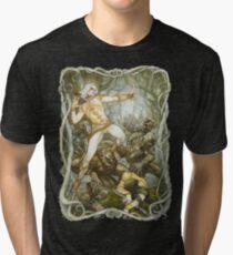 Elves & Orcs, the Battle Under the Trees Tri-blend T-Shirt
