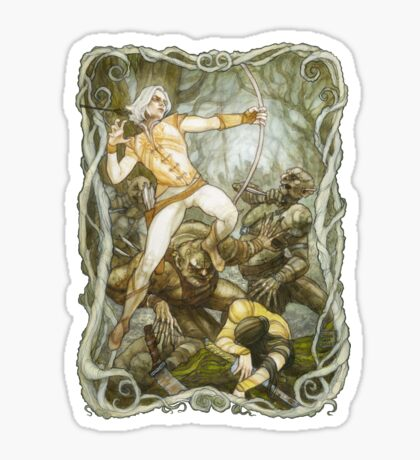 Elves & Orcs, the Battle Under the Trees Sticker