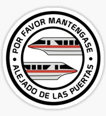 MonorailPorFavorRed Sticker